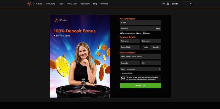 Register and play at Winner Casino