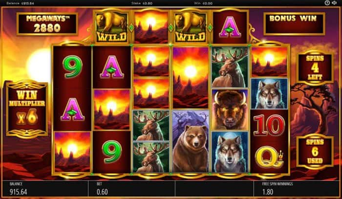 How to play Buffalo Rising Megaways Slot Machine
