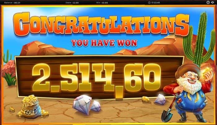 big win at Diamond Mine Slot