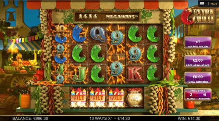 Extra Chilli Megaways Free Spins Bonus