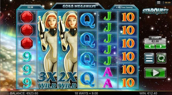 wilds in star quest slot