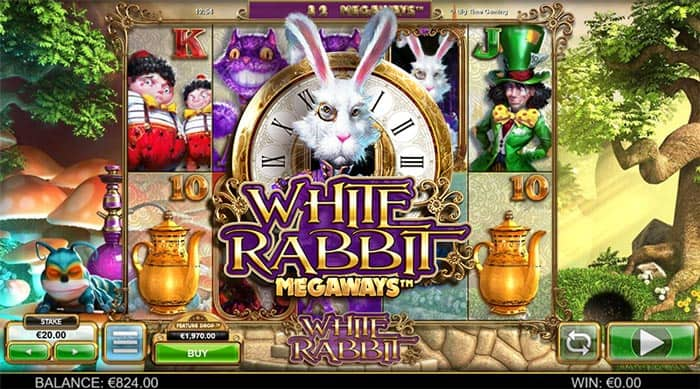 white rabbit slot by Big Time Gaming