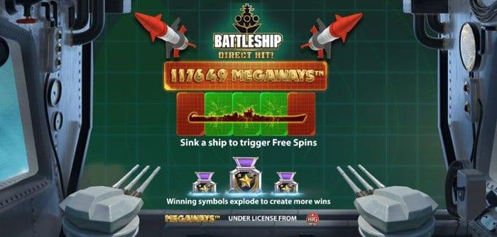Battleship Direct Hit! Megaways Slot