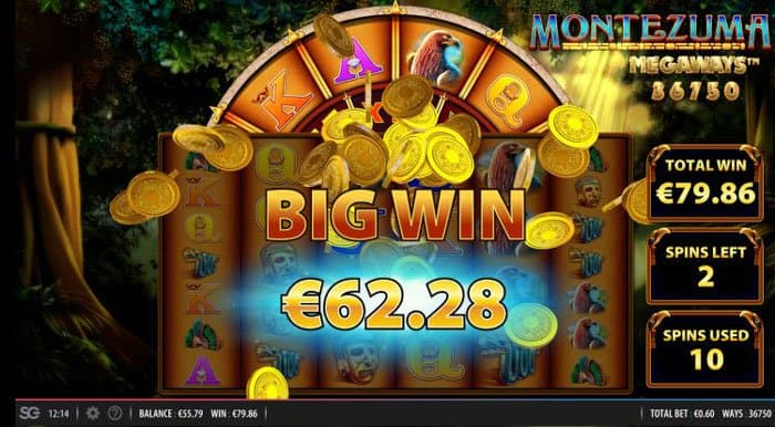 Big Win on Montezuma Megaways