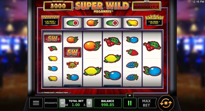 How does the Super Wild Megaways slot machine work?