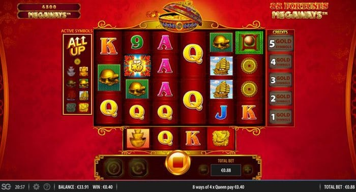 How to play at 88 Fortunes Megaways slot?