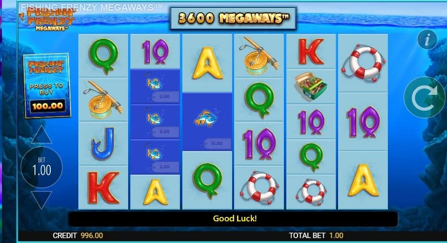 How to play at Fishin' Frenzy Megaways Slot?