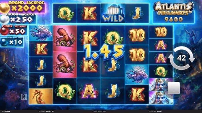 How to play at Atlantis Megaways slot?