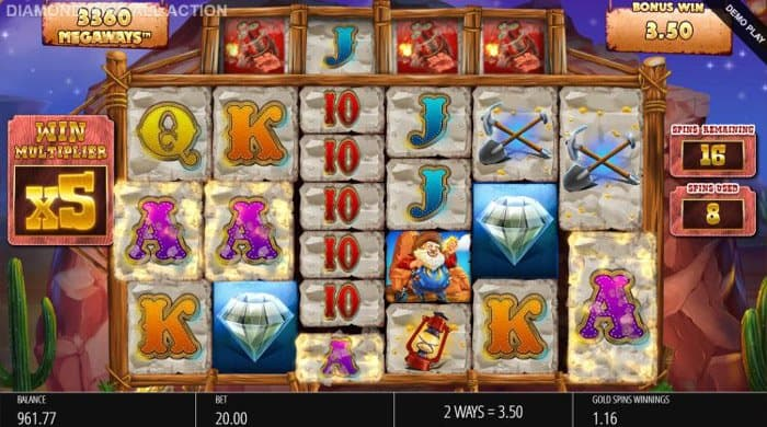 How to play at Diamond Mine All Action Megaways Slot?