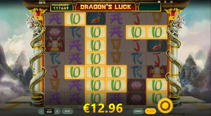 How to play at Dragon's Luck Megaways slot machine?
