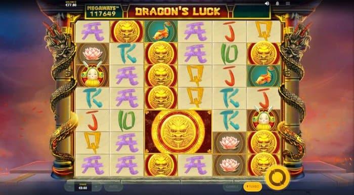 Dragons Luck Megaways symbols feature