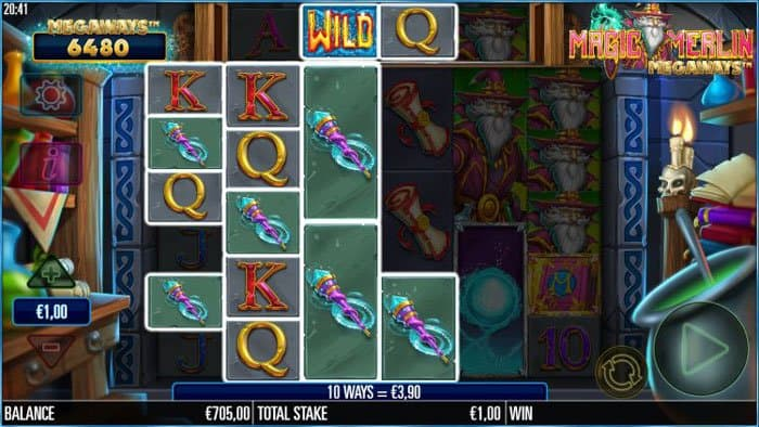 How to play at Magic Merlin Megaways slot machine?
