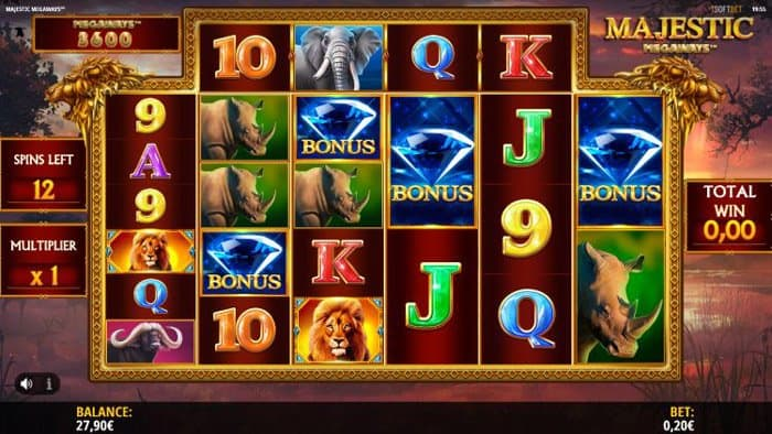 How to play at Majestic Megaways Slot Machine?