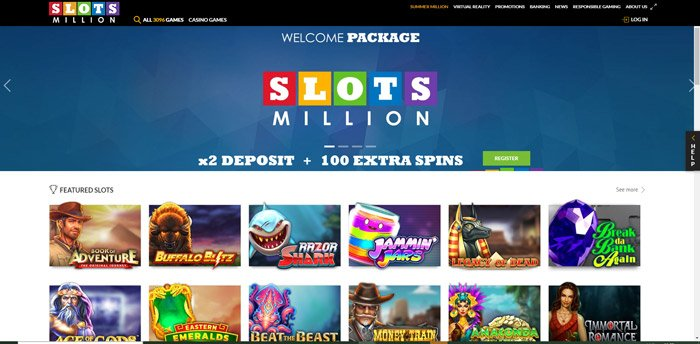 SLots Million Website