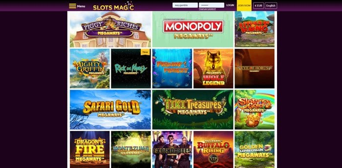 SlotsMagic Megaways Slots