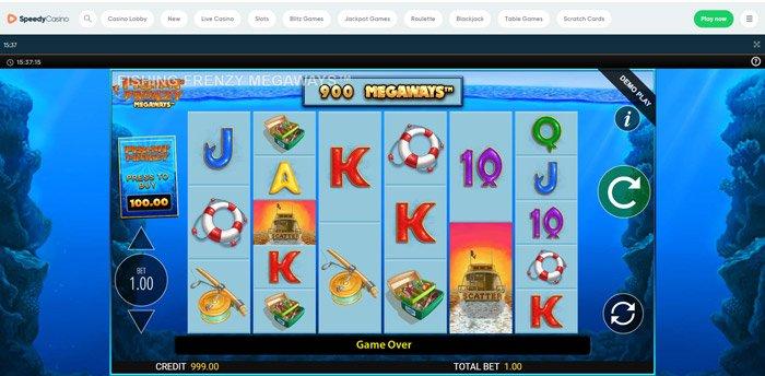 Fishin Frenzy Megaways at Speedy Casino