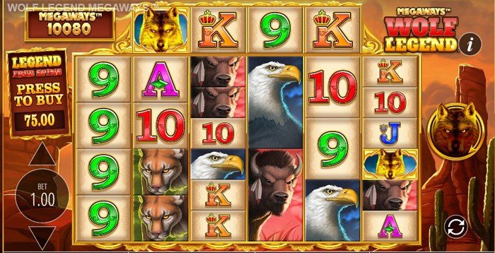 How to play at Wolf Legend Megaways slot machine?
