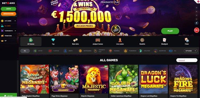 Play all Megaways Slots at BetAmo