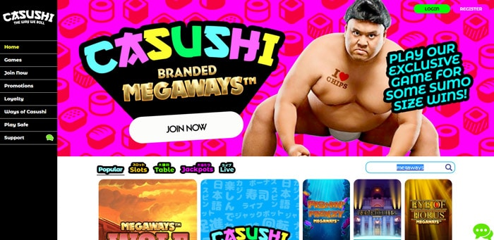 Casushi Branded Megaways
