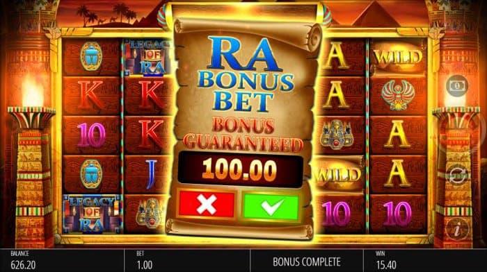 Legacy of Ra Megaways Ra Bonus Bet