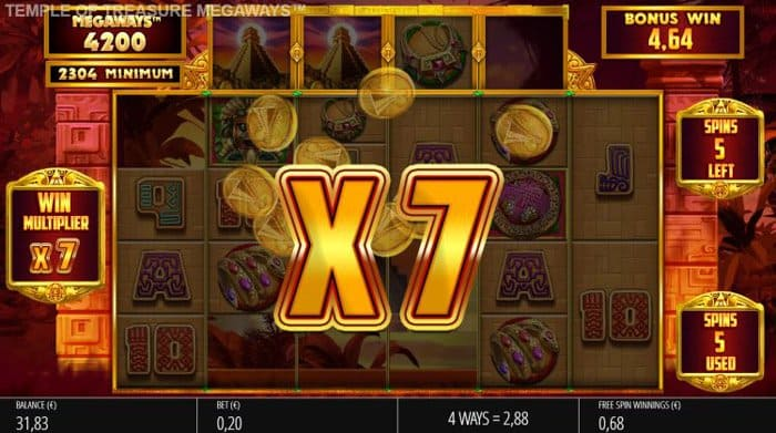 How to play at Temple of Treasure Megaways Slot Machine?