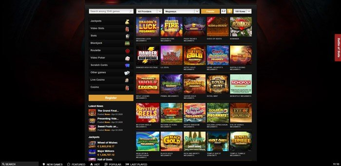 Play Megways Slots at Videoslots