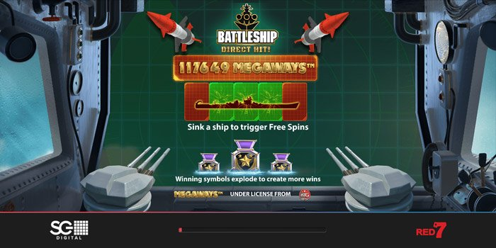 Play Battleship Direct Hit Megaways for free in demo mode