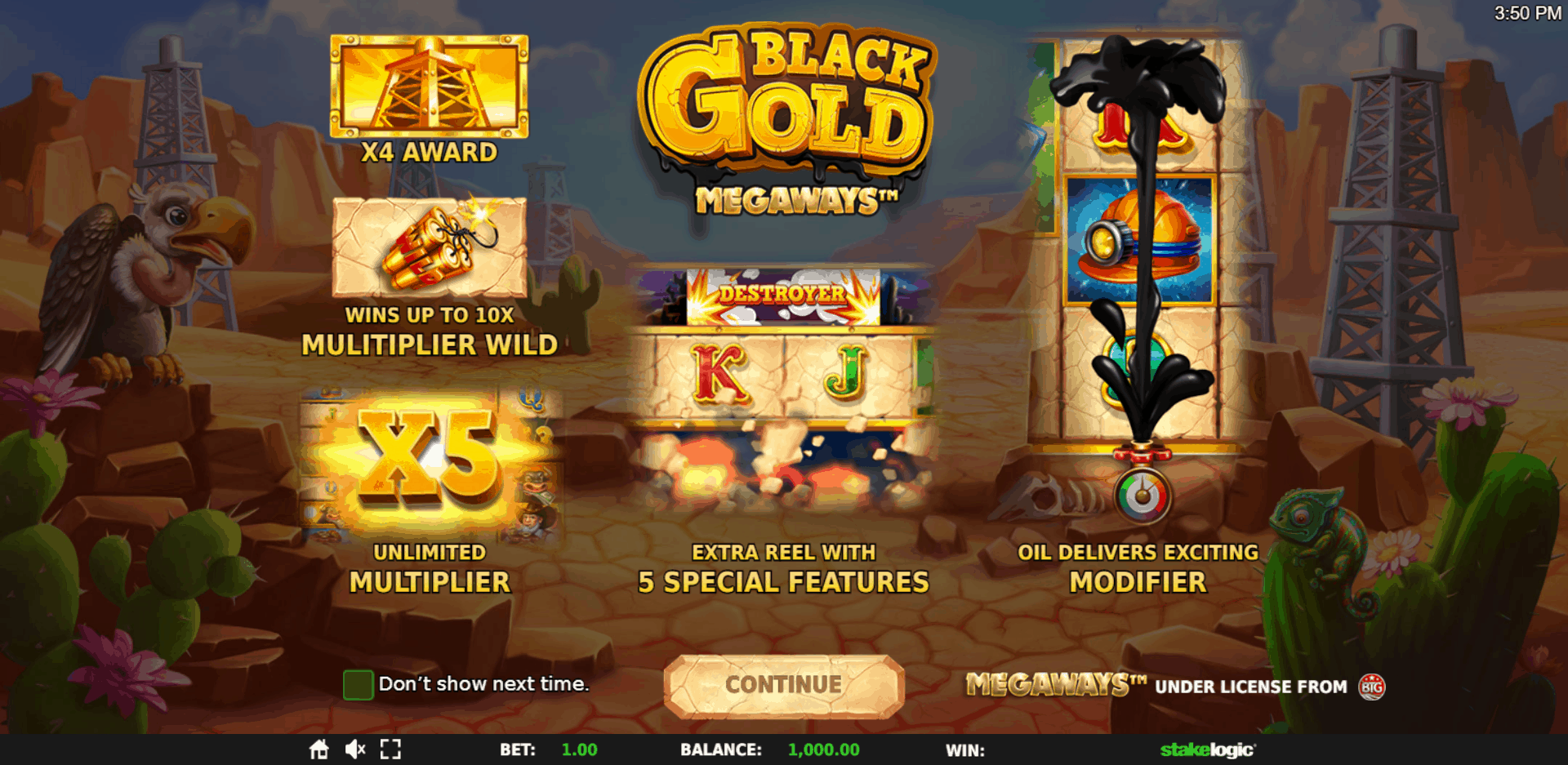 Play Black Gold Megaways for free in demo mode