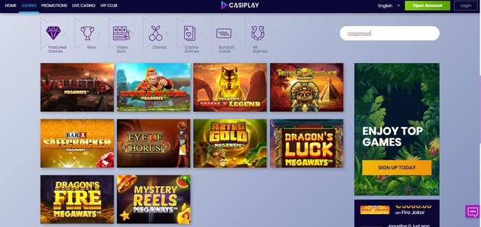 Casiplay Megways Slots