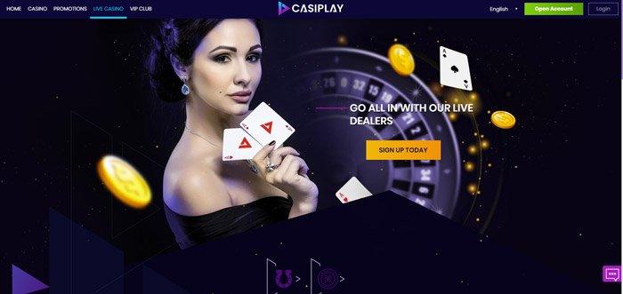 casiplay live casino lobby