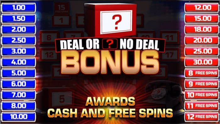 Deal or no Deal Bonus