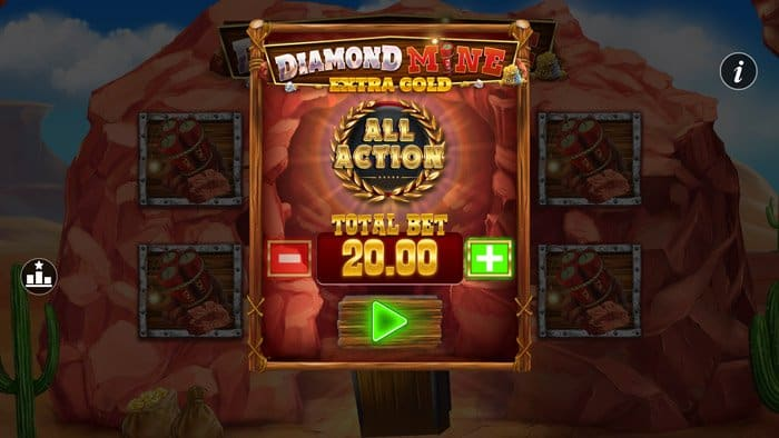 Play Diamond Mine All Action Megaways for free in demo mode
