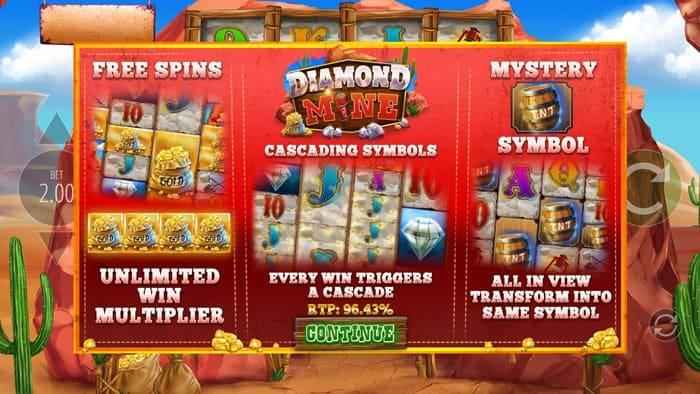 Diamond Mine Megaways All Action Slot Machine