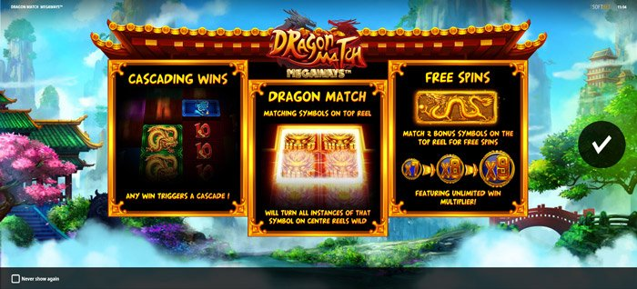 Play Dragon Match Megaways for free in demo mode