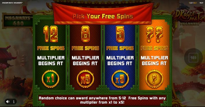 pick your free spins