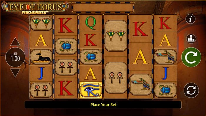 Play Eye of Horus Megaways for free in demo mode