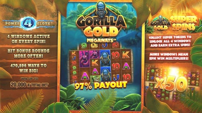 Play Gorilla Gold Megaways for free in demo mode