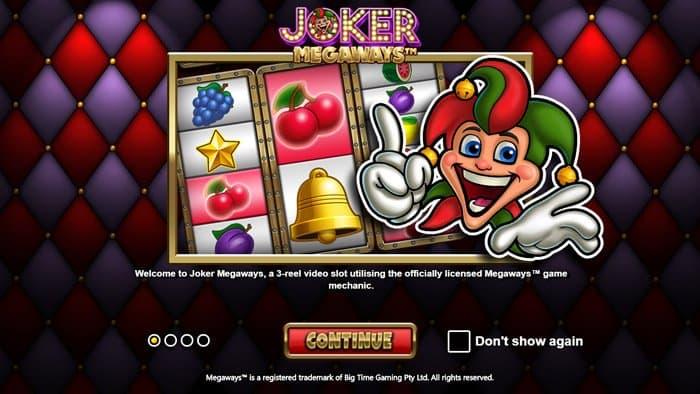 Play Joker Megaways Slot for free in demo mode