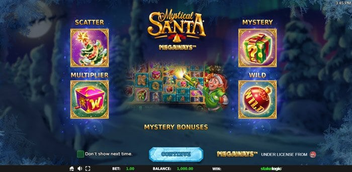 Play Mystical Santa Megaways for free in demo mode
