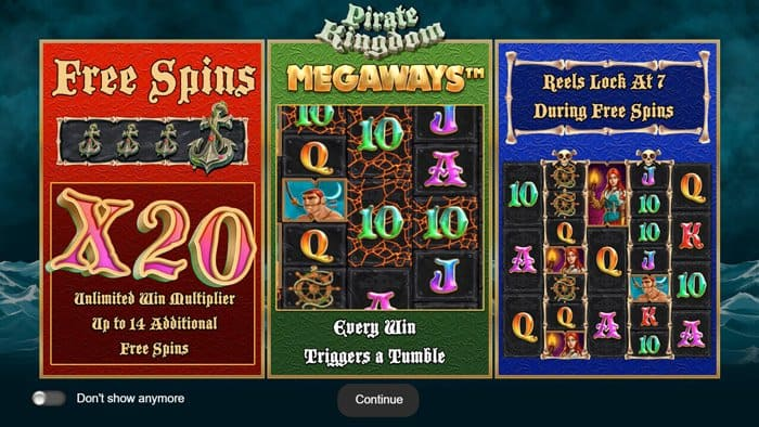 Play Pirate Kingdom Megaways for free in demo mode