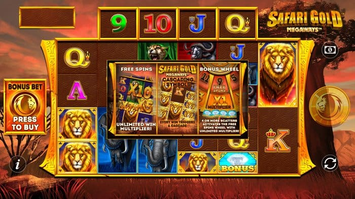 Play Safari Gold Megaways for free in demo mode