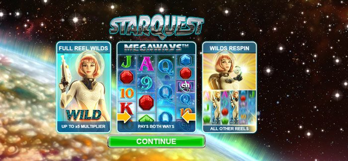 Play Starquest Megaways for free in demo mode