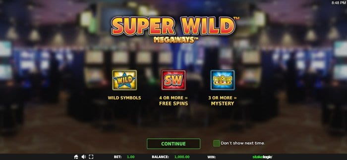 Play Super Wild Megaways for free in demo mode