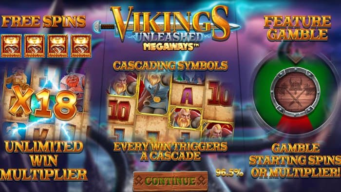 Play Vikings Unleashed Megaways for free in demo mode