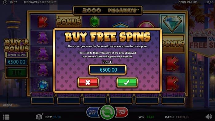 Buy a bonus feature