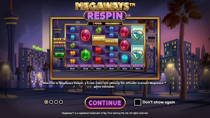 Play Megaways™ Respin Slot for free in demo mode