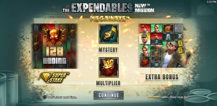 Play The Expendables New Mission Megaways for free in demo mode