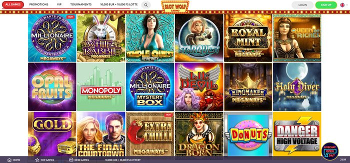 Play Megaways Slots at SlotWolf Casino