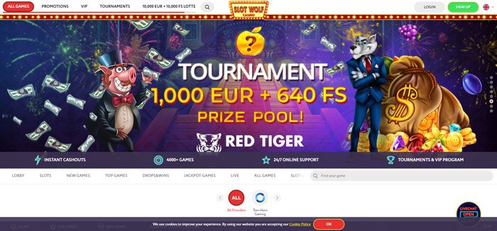 SlotWolf Casino offer