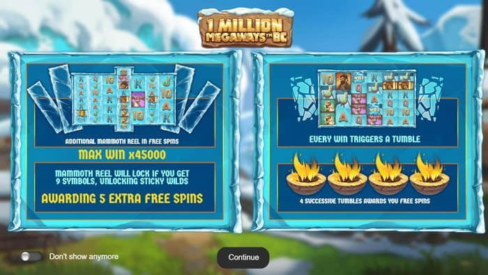 Play 1 Million Megaways BC for free in demo mode